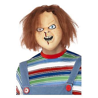 Mens Chucky masque Latex Halloween déguisements accessoires