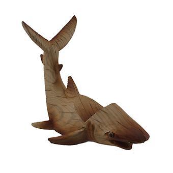 Veistetty puu näyttää Polyresin Shark viinipullo haltija