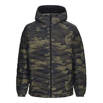 Peak Performance Mens Frost Down Hooded Printed Jacket