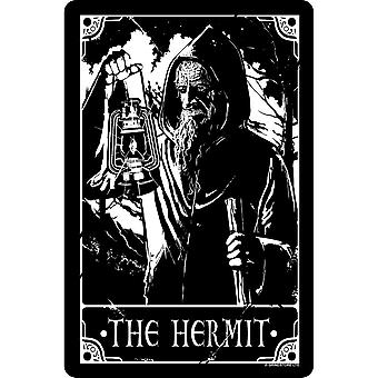 Deadly Tarot The Hermit Tin Sign