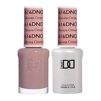 DND Duo Gel & Nail Polish Set - Havana Cream 616 - 2x15ml
