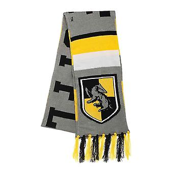 Harry Potter Scarf Hufflepuff House Crest Varsity logo new Official