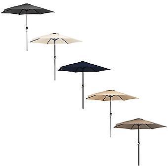 Charles Bentley Metal Patio Umbrella Parasol mit Crank & Tilt Made of Powder Coated Steel-Multi-Coloured