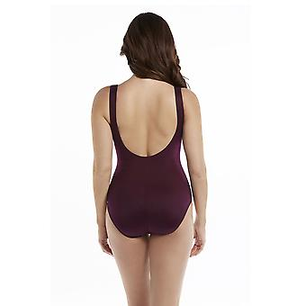Miraclesuit 6516666-SHZ Women's Must Haves Escape Shiraz Red Underwired Shaping Swimsuit