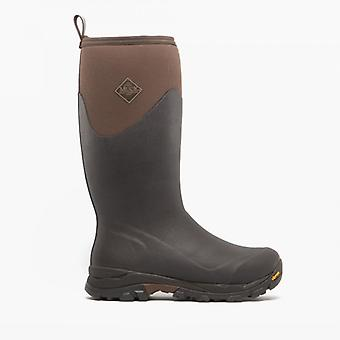 Muck Boots Arctic Ice Tall Mens Rubber Wellington Boots Brown