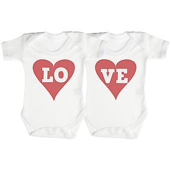 LO & VE Twin Set Baby Romper / Babygrow