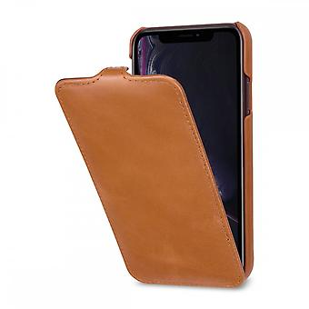 Case For IPhone Xr Ultraslim In True Leather Cognac