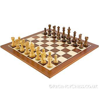 Pioneer Sheesham en mahonie Staunton-schaakstukken
