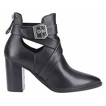 Steve Madden Jizz Ladies Leather Ankle Boots Black