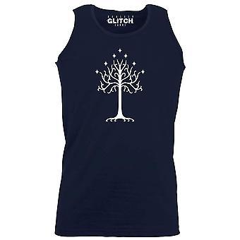 Men's white tree of gondor vest