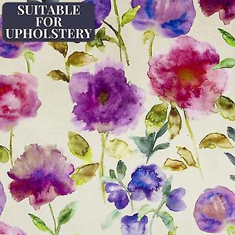 Mcalister Textilien Renoir floral violett lila samt Stoff