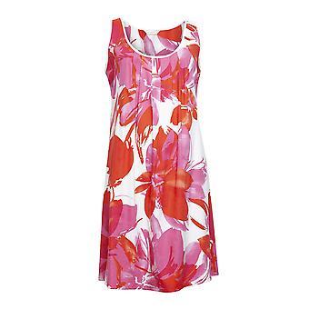 Κυβερνοπυτζάμες 4359 γυναίκες ' s κεχριμπάρι ροζ floral εκτύπωση βαμβάκι Chemise