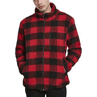 Urban Classics - Plaid Hiking Winter Jacket Red / Black