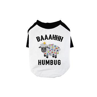 Baaahhh Humbug grappig BKWT huisdieren honkbal shirt X-Mas gift