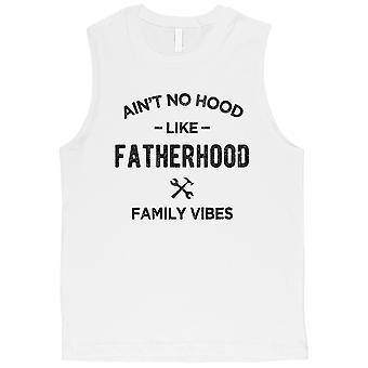 Non cappuccio come la paternità mens bianco cura divertimento allenamento muscolo camicia