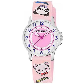 Visa Calypso JUNIOR K5775-4 - 27MM 3AIGUILLES stål ökade armband plast rosa kvinna