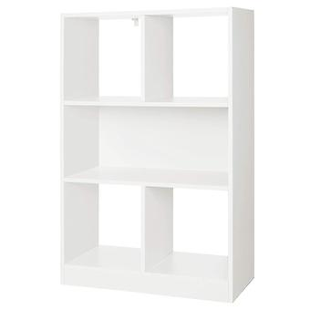 Bookcase with 5 compartments - white or oak