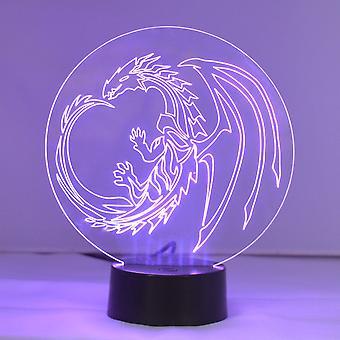 Cerchio del drago colore acrilico LED luce cambia