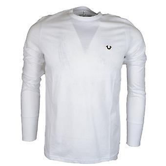 True Religion M17ft911g9 Metal Logo White Long Sleeve T-shirt