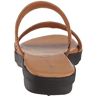 Easy Street Womens 30-8274 Leather Open Toe Casual Slide Sandals