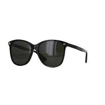 Gucci GG0024S 001 Black/Grey Sunglasses