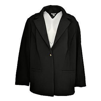 Joan Rivers Classics Collectie Dames's Plus Blazer Black A366435