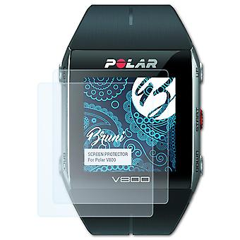 Bruni 2x Screen Protector compatible with Polar V800 Protective Film