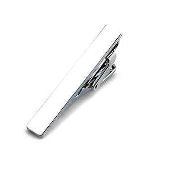 Plain skinny 4cm men's stainless steel tie clip bar