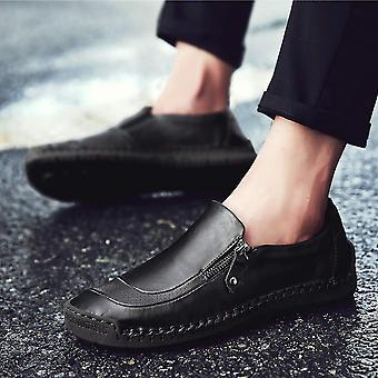 Qiucdzi Mens Casual Shoes Warm Fur Lined Anti-Slip Sneakers Outdoor Walking S...