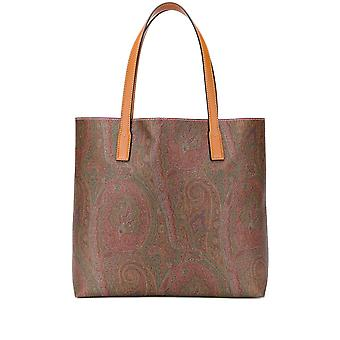 Etro 1i47287110600 Women's Brown Leather Tote