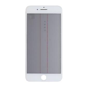 4 In 1 White Top Glass & Frame For iPhone 8 Plus   iParts4u