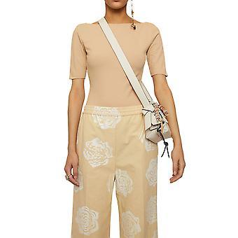 Acne Studios Al0120aek Women's Bege Cotton Bodysuit