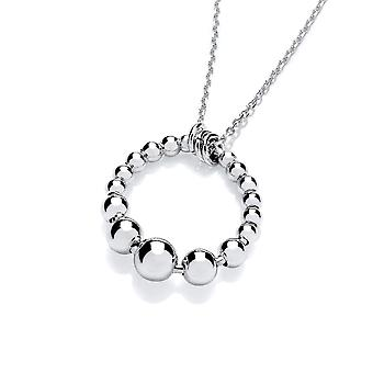 David Deyong Sterling Silver Crescent Bubbly Pendant & Chain
