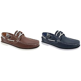 Dek Mens Leather Non Marking Moccasin Boat Shoes