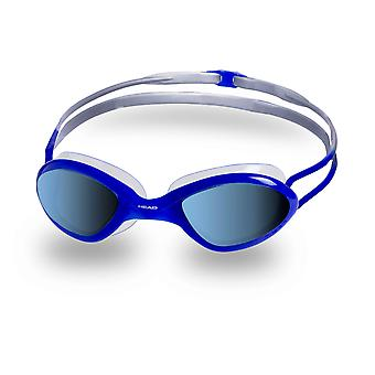 HEAD Tiger Race Mirrored Liquidskin Swim Goggles-Blue/Clear
