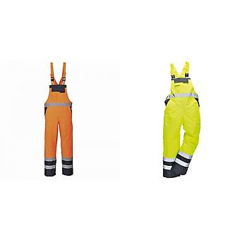 Portwest Unisex Contrast Hi Vis Bib And Brace Coveralls - Unlined (S488) / Workwear