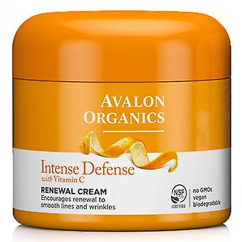 Avalon organics intense defense, with vitamin c, renewal cream, 2 oz