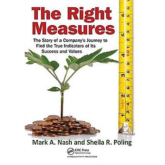 The Right Measures  The Story of a Companys Journey to Find the True Indicators of Its Success and Values by Nash & Mark A.