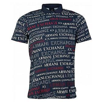 Armani Exchange Her Şeyden Önce Script Logo Polo