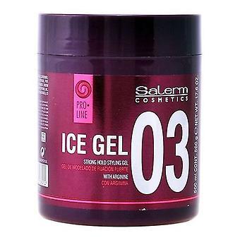 Silný držať vlasy sprej ľad Salerm