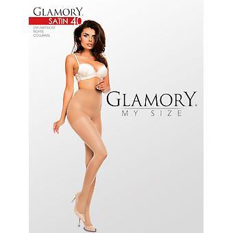 Glamory Satin 40 Shiny Tights Up To Size 4XL