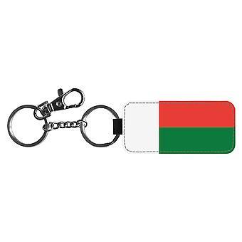 Madagascar Flag Keychain