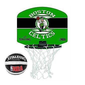 Spalding Boston Celtics NBA Miniboard Basketball Ring Net et Ball Set