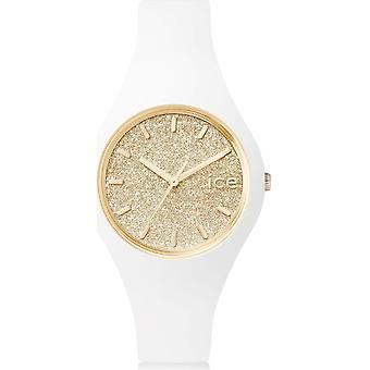Ice Watch-horloge-Unisex-ijs glitter-wit goud-Small-3H-001345