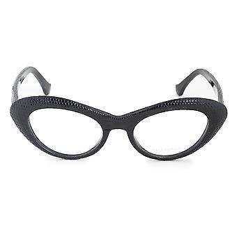 Balenciaga BA 5048 005 49 Leather Embossed Cat Eye Eyeglasses Frames
