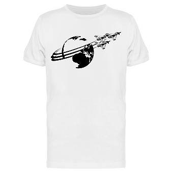 Military Fighters Earth Space Tee Men's -Kuva Shutterstock