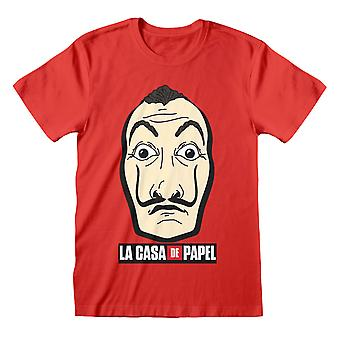 La Casa De Papel Money Heist Mask Men & apos;s T-Shirt | البضائع الرسمية