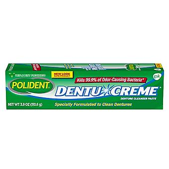 Polident triple mint dentu-creme denture cleanser paste, 3.9 oz