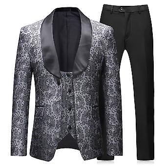 Allthemen الرجال & apos;s البدلة الرسمية 3-قطع حفل زفاف بدلة اللباس بليزر وسترت & السراويل