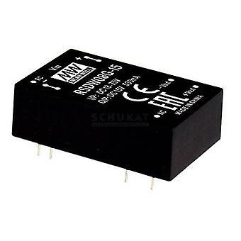 Keskimääräinen hyvin RDDW08F-05 DC/DC-muunnin (moduuli) 800 mA 8 W Ei. lähtöjen määrä: 2 x